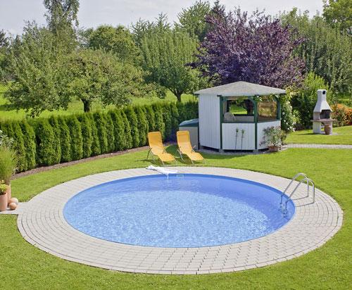 Preiswertes schwimmbecken set rund von d w pool - Poolumrandung rund ...