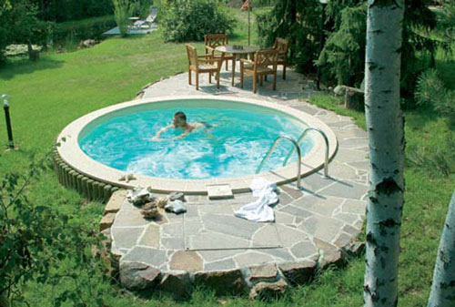 Tiefes rundes pool komplett set mit sandfilter for Pool 3m rund