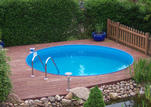 Tiefes rundes pool komplett set mit sandfilter for Pool stahlwand
