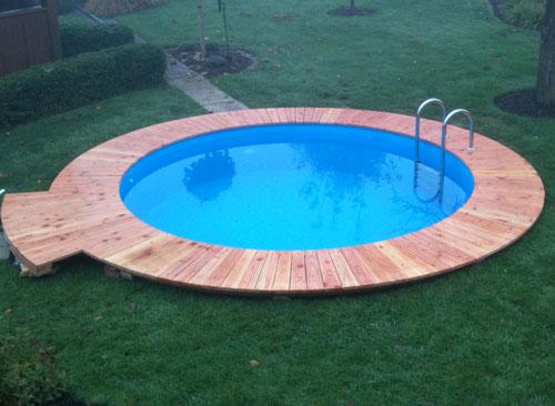 preiswertes schwimmbecken set rund von d w pool. Black Bedroom Furniture Sets. Home Design Ideas