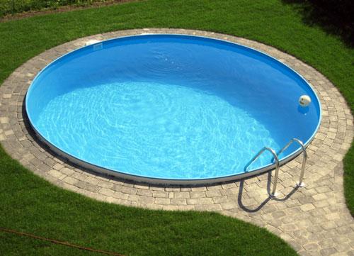 Preiswertes schwimmbecken set rund von d w pool for Kunststoff pool rund