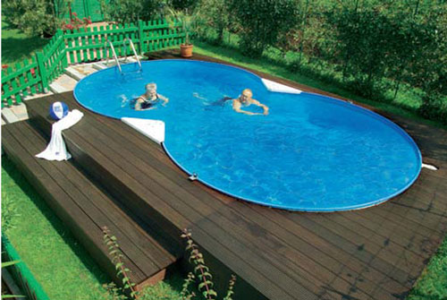 komplettes einbau schwimmbeckenset langform mit 150 cm tiefe. Black Bedroom Furniture Sets. Home Design Ideas