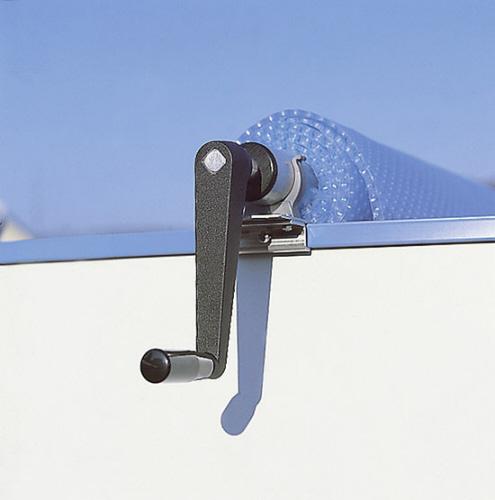 Rollstange aufrollvorrichtung f r stahlwand schwimmbecken for Schwimmbecken stahlwand