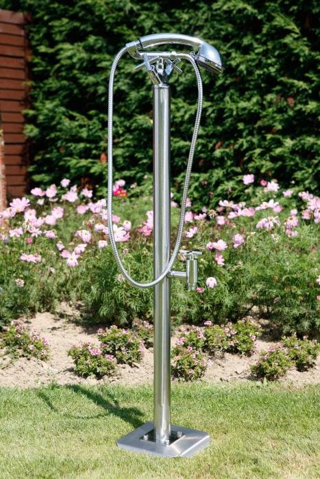 Outdoor Dusche Warmwasser : Gartendusche Bora K mit Entnahmehahn