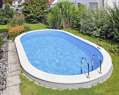 D w poolset langform vom typ lago sb tiefe 150 cm for Schwimmbecken mit stahlwand
