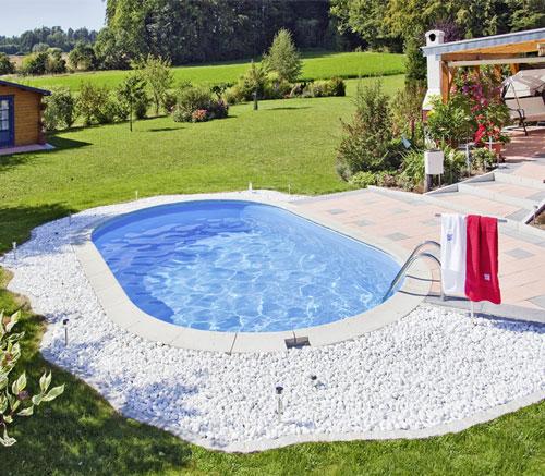 Komplett Schwimmbecken LAGO SB