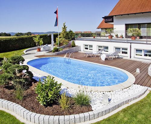 komplettes schwimmbecken set oval mit sandfilteranlage becken lago sb mit 400 x 250 cm tiefe. Black Bedroom Furniture Sets. Home Design Ideas