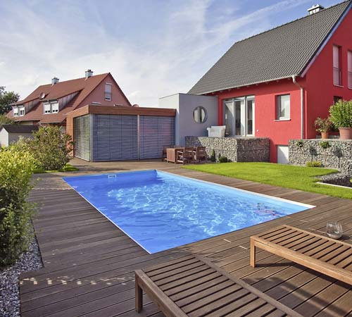 Favorit Pool Viereckig. Affordable Bestway Frame Pool Power Steel Set FH73